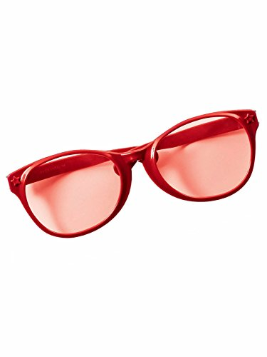 Red Oversized Glasses -