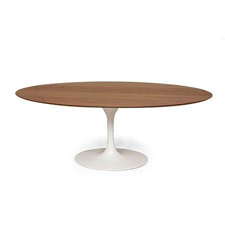 Mid Century Eero Saarinen Style Large Oval Walnut Tulip Dining - Walnut tulip dining table