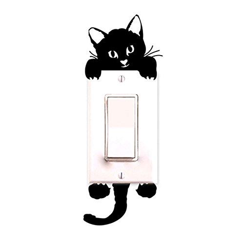 Fullkang New Cat Wall Stickers Light Switch Decor Decals Art