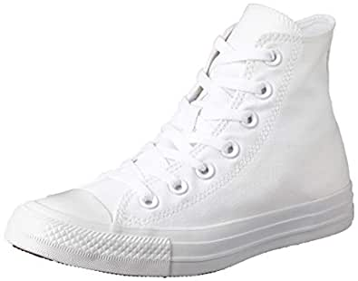 Converse Chuck Taylor High Top Unisex Sneakers, White/Silver, 3.5 US Men / 5.5 US Women