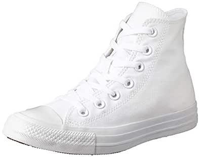 Converse Chuck Taylor High Top Unisex Sneakers, White/Silver, 3.5 US Men / 5.5 US Women