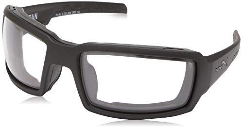 Wiley X CCTTN03 Titan Sunglasses Clear Lens Matt Frame, Black