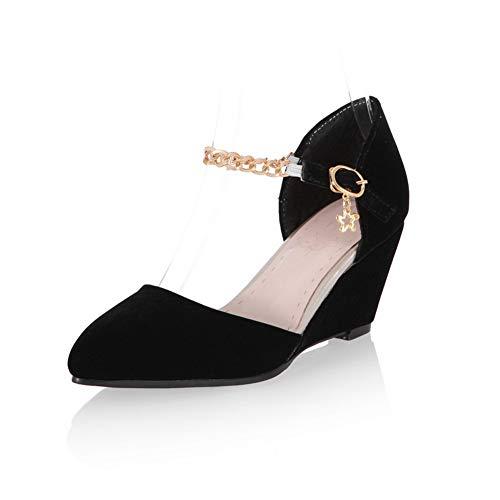 1TO9 Femme Noir Inconnu Sandales MJS03541 Compensées wUBxfqR0d