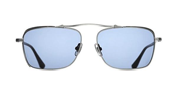 dae85a7ed21 Amazon.com  Matsuda M3047 Antique Silver Aviator Sunglasses  Clothing