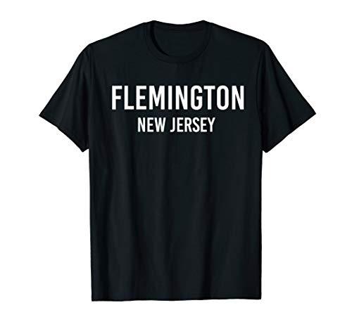 FLEMINGTON NEW JERSEY NJ USA Patriotic Vintage Sports T-Shirt (Shops Flemington)