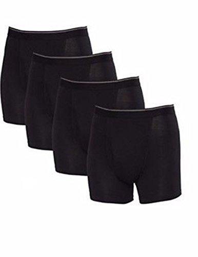 Kirkland Signature Men's Four Pack Pima Cotton Stretch Boxer Briefs! Black....