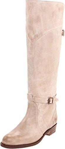 FRYE Women's Dorado Riding Boot, Taupe Burnished Antique Lea