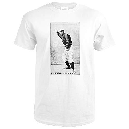 New York Giants - Jim O'Rourke - Baseball Card 22546 (Premium White T-Shirt XX-Large)