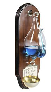 Weather Storm Glass Wooden Wall Plaque Barometer Instrument by Nautical Home Decoration