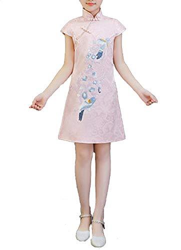 Children's Tang Suit Girls Cheongsam Summer Chinese Dress Kindergarten Performance Clothing,1,6T]()