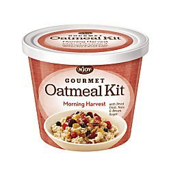 N' Joy(R) Oatmeal With Gourmet Toppings, Morning Harvest, 27.36 Oz, Pack Of 8 (Harvest Oatmeal)