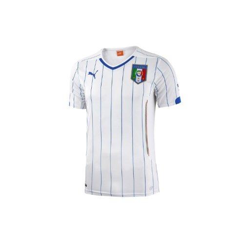 出会い応用堤防Puma Italy Away Jersey World Cup 2014 White/サッカーユニフォーム イタリア アウェイ用 ワールドカップ2014 背番号なし 白