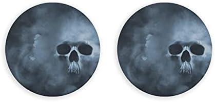 Skull Cool Bone Scary Tattoo Artículos para el hogar 2 piezas Abridor de botellas de cerveza magnético Imanes de nevera Magnéticos