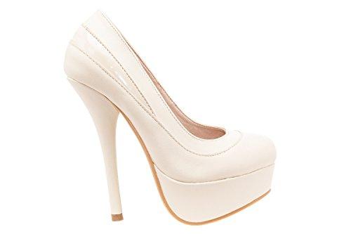Andres Machado.AM589.Zapatos con Plataforma.Para Mujer.Tallas Pequeñas/Grandes 32/35; 42/45 Beige.N