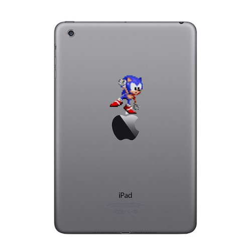 Retro Decal Sonic (Tipping) 8 Bit Decal for MacBook, iPad Mini, iPhone 5S, Samsung Galaxy S3 S4, Nexus, HTC One, Nokia Lumia, Blackberry