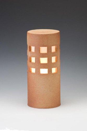 信楽焼ガーデンライト千のあかり(コーラル)直径12.5cm×高さ29cm(屋外用防雨型和風ライト) 日本製 B00476P46S 19440
