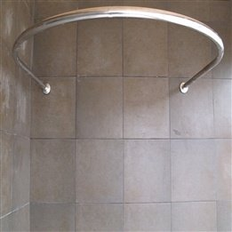 SUS304 Stainless Steel Round U Shaped Shower Curtain Rod ABS Engineering  PVC Fasteners Sizes Can