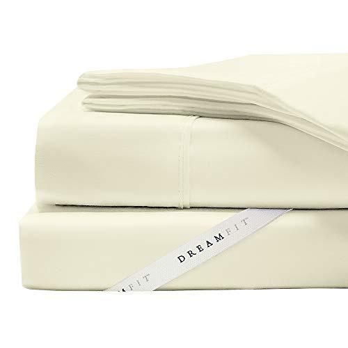 DreamFit 3-Degree 300 Thread Count Select World Class Cotton Sheet Set, Split King, Soft Linen