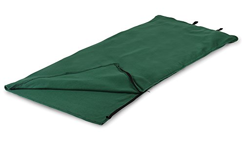 (Stansport Fleece Sleeping Bag, Green, 32