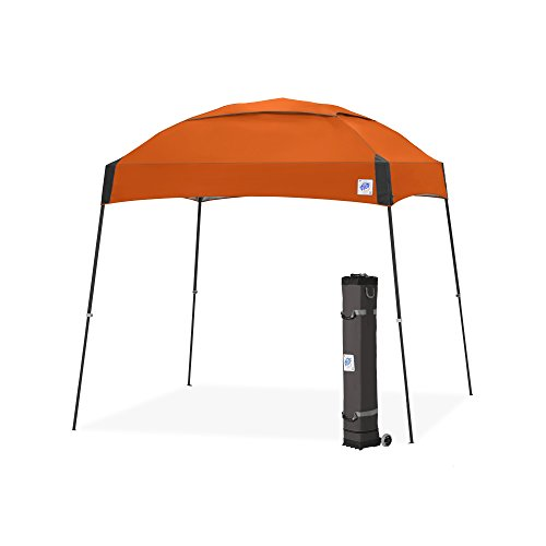 E-Z UP Dome Instant Shelter Canopy, 10 by 10', Steel Orange