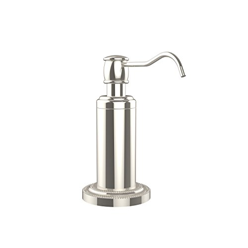 (Allied Brass DT-61-PNI Dottingham Collection Vanity Top Soap Dispenser Polished Nickel)