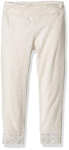 Splendid Little Girls' Seasonal Basic Legging With Lace Bottom, Light Grey, 5/6 (Littles Splendid Leggings)