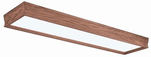 Light Wood Trim (Lighting by AFX CTK232R8 Traditional Wood Frame 2-32 Watt Light Fixture, Oak Finish with White Acrylic)