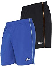 B-TUF Mens Shorts Pair for Gym Running Cycling Sports Training Polyester Lightweight (BT-281)
