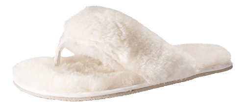Nordvek Premium Äkta Fårskinn Kvinnors Sandal Tofflor # 411-100 Grädde