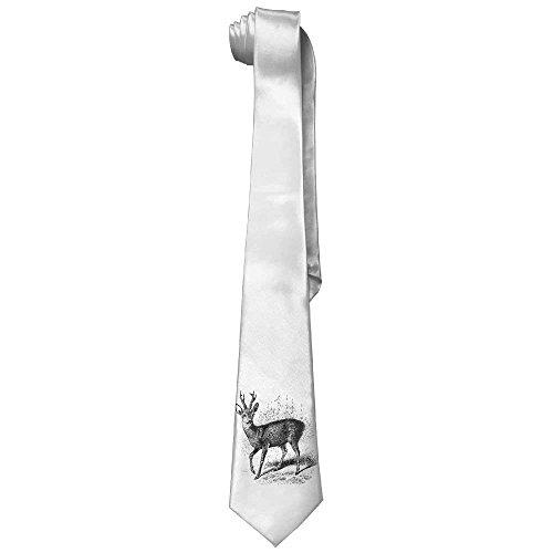 Styled Tie 143 Elk Tie Neckties Men's Skinny Length Deer Neck Cotton Black 145cm Forest Printed gOIwEqI