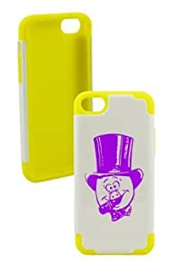 Happy Pig Plastic & Silicone Yellow Case for Iphone 5c