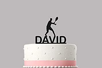 c3fe376228836 Table Tennis Ping Pong Personalised cake topper acrylic, NAME Happy ...