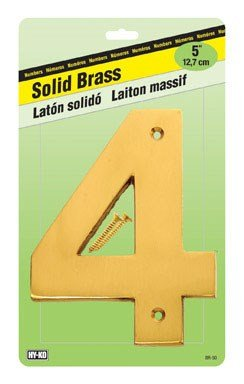 Decorative Brass House Number (Decorative Brass Number 4, 5