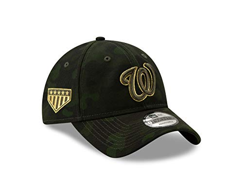 New Era Washington Nationals 2019 MLB Armed Forces Day 9TWENTY Adjustable Hat - Camo (Washington Nationals Green Hat)