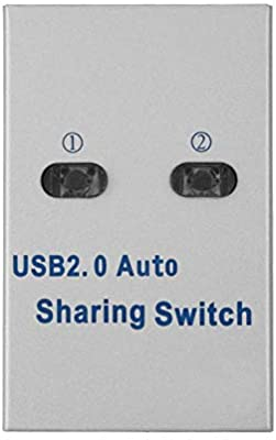 Tonysa USB 2.0 Sharing Switcher Printer Sharing 1 a 2 Splitter, Auto/Manual Sharing Switch Hub para Impresora, escáner, trazador, etc.: Amazon.es: Electrónica