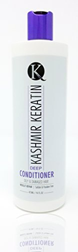 Kashmir Keratin Deep Conditioner For Oily And Damaged Hair Sulfate And Paraben FREE NEW PRESENTATION (16 Fl Oz.)