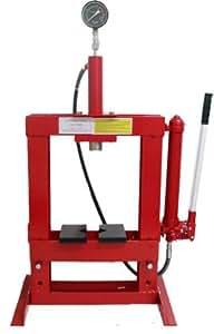 10 ton hydraulic shop press floor bench top w gauge automotive. Black Bedroom Furniture Sets. Home Design Ideas