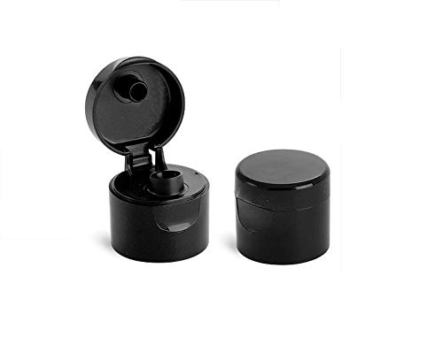 WM (Pack of 24) - Black Replacement 20/410 Flip-Top Dispensing caps for 1 oz, 2 oz, 8 oz Bottles by wolfmoon botanicals