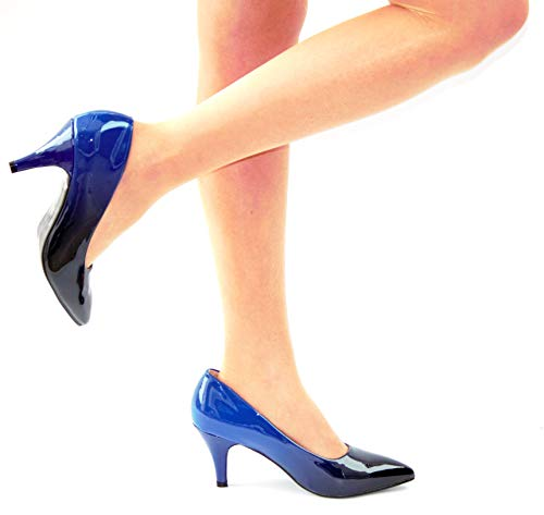 Bleu Femme Danse Box de Boutique Bleu Marine Shoe Salon qXA01n
