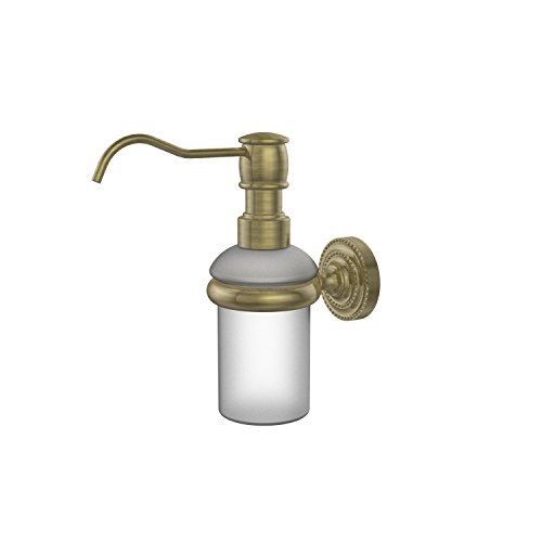 Allied Brass DT-60-ABR Dottingham Collection Wall Mounted Soap Dispenser Antique Brass ()