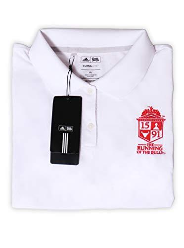 Official 1591 Running of The Bulls Men's Premium Polo Starter Kit (X-Large, White)