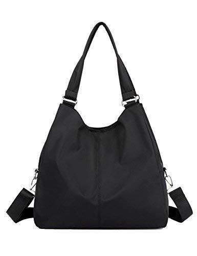 Hobo Shoulder Tote Bag, Women Waterproof Multi-function Roomy Handbag Cross-body Bag with Zipper - Logo Classic Small Hobo