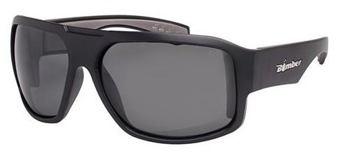 Bomber Sunglasses - Mega Bomb Matte Black Frm / Smoke Pc Safety Lens / Gray (Smoke Gray Sunglasses)