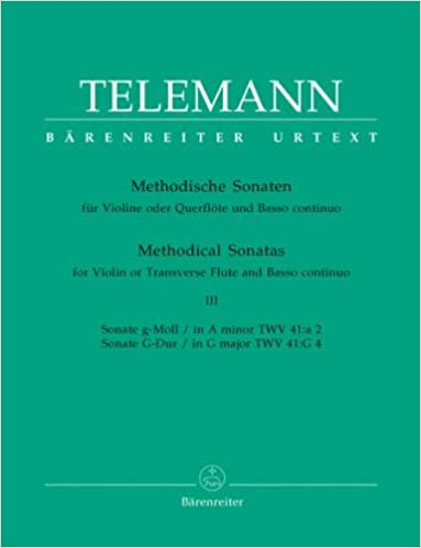 Book Sonates méthodiques TWV 4/41 : la mineur-Sol Majeur --- Violon (ou Flûte)/Piano