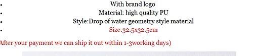 agua silver de estilo de Bolso Gotas holograma de Bolso Gold Bolso geométrico Baobao mujer wTqFFB