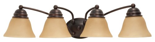 Mahogany 4 Light Vanity Lamp - 6