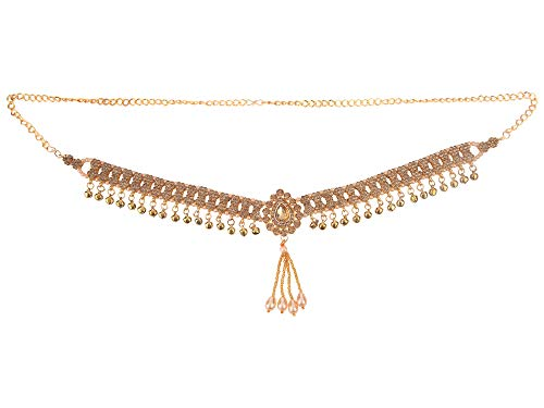 Efulgenz Indian Bollywood Vintage Gold Plated Waist Belt Belly Chain Kamarbandh Bridal Dangle Tassel Body Jewelry
