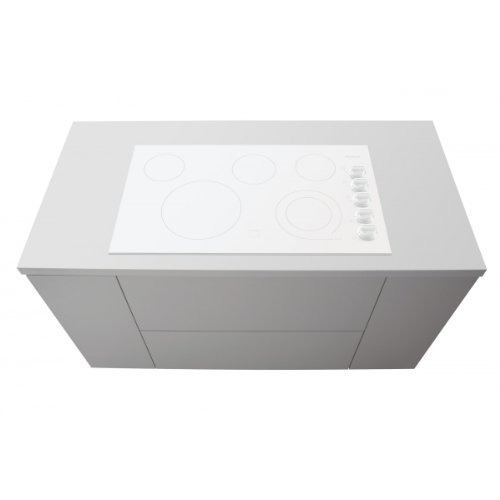 (Gallery Series 36 In. Electric Cooktop - White)