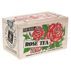 The Metropolitan Tea Company 62WD-618B-022 Rose 25 Teabags in Wood Box