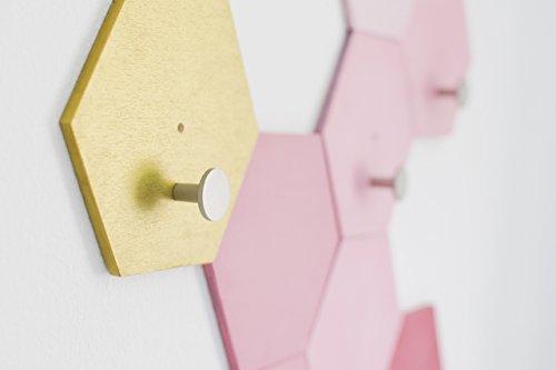 Hexagon shaped - Wall mounted - Coat Hooks